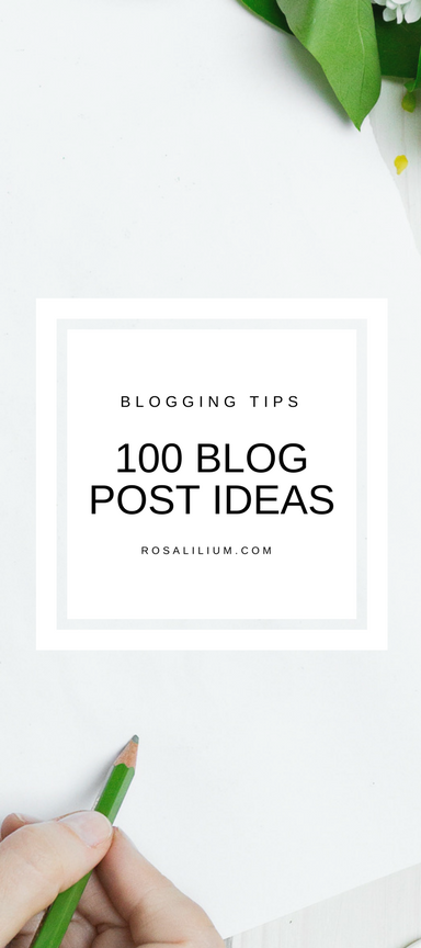 100 Blog Post Ideas and Prompts