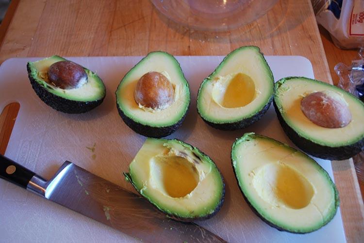 halve avocado