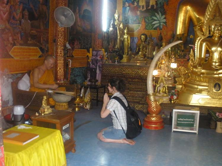 travel being blessed by monk