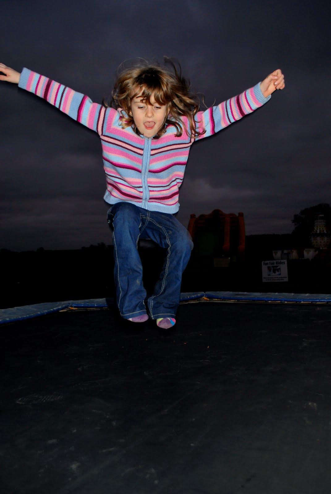 Charlotte on trampoline
