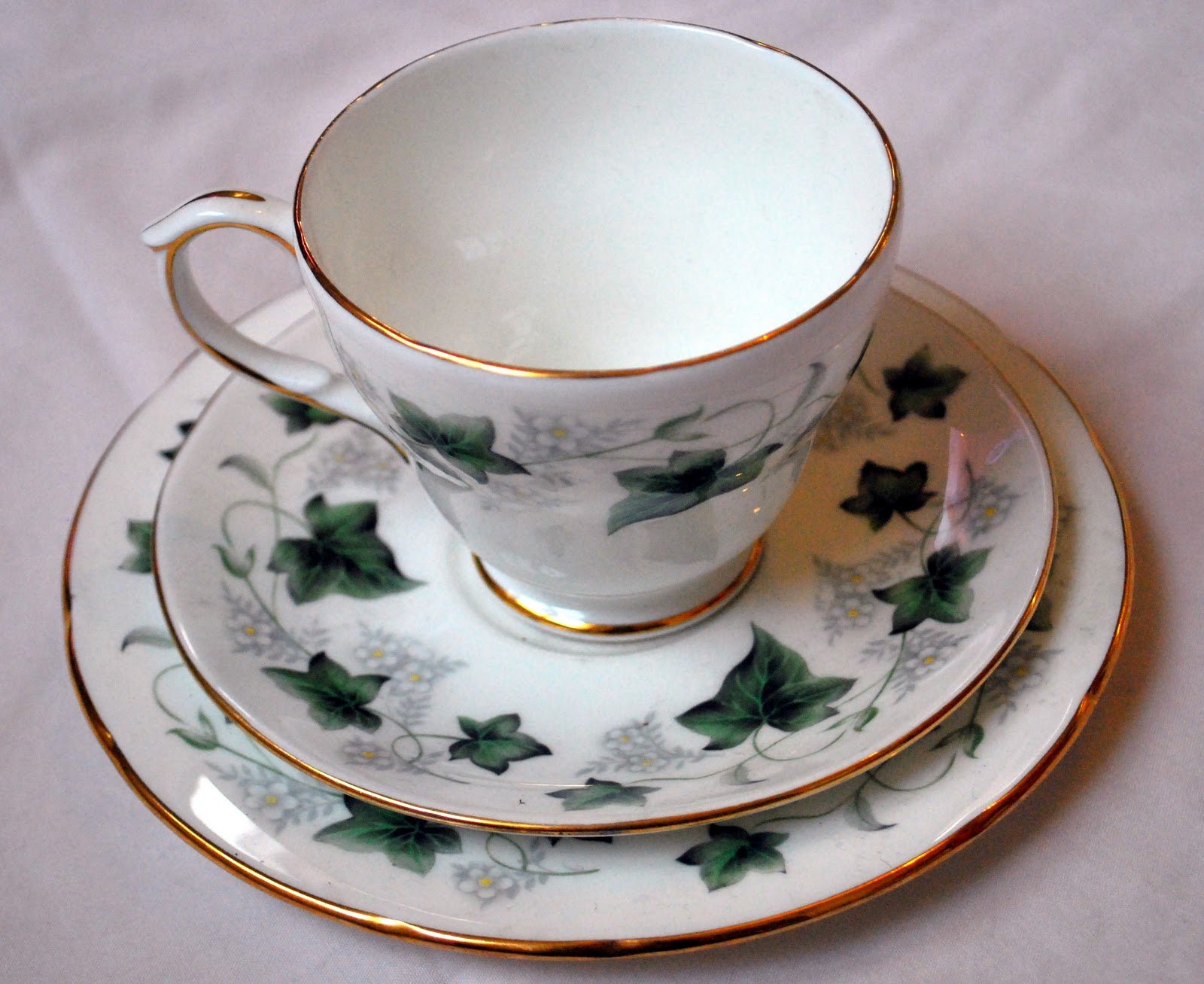 Ivy Teacup and Saucer