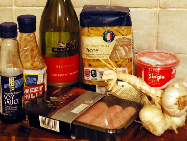 Ingredients Sausage Pasta