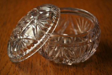 small glass pot with lid