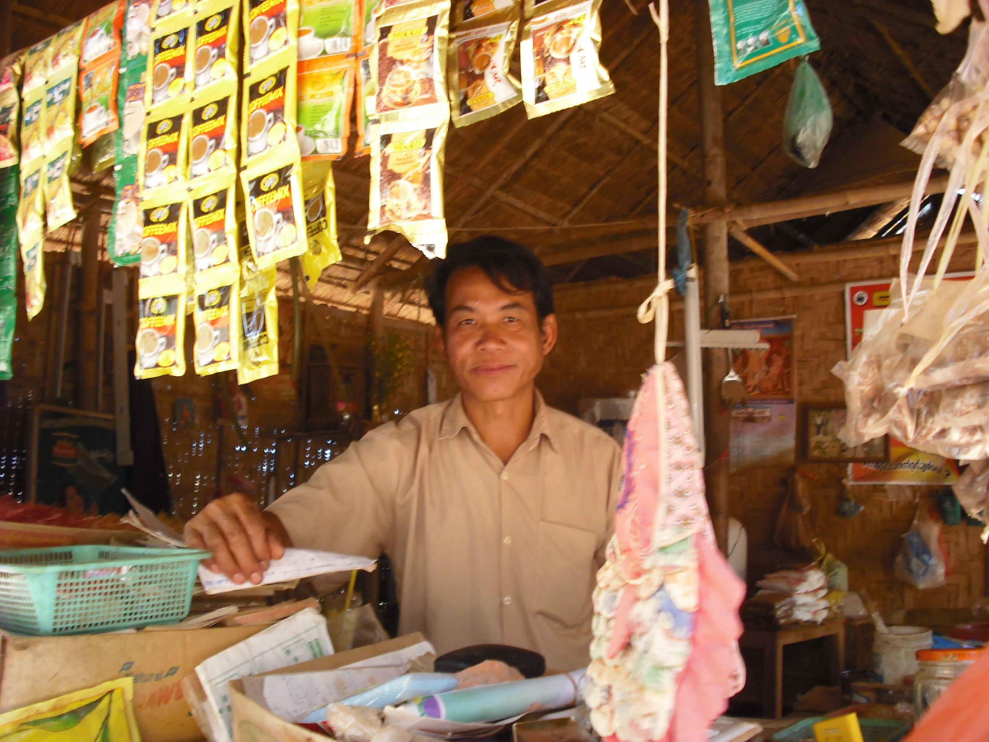 Burmese shopkeeper