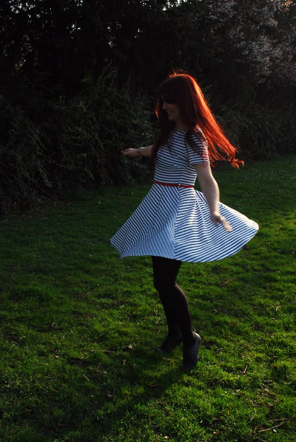 twirling dress