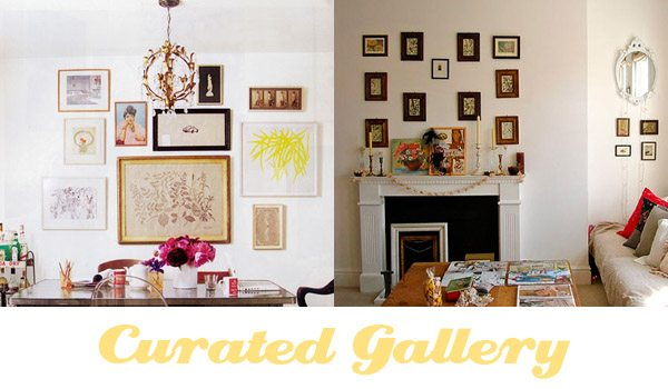curated wall gallery