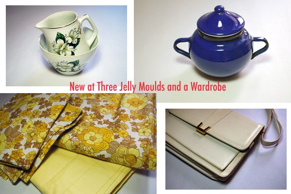 new vintage at three jelly moulds and a wardrobe