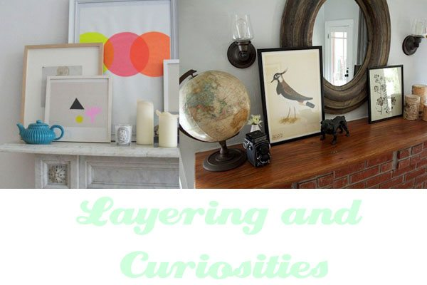 curiosities and layering objects