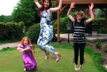 sissy and girls jumping