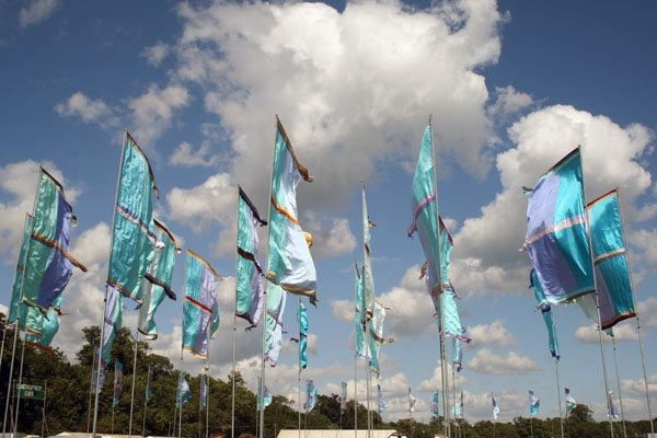 flags at womad