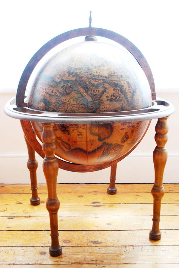 personally i prefer our cocktail trolley but the boyf is determined that this globe bar has a place of prominence in our home