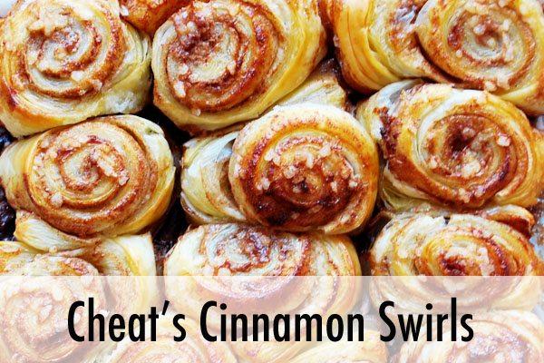 cheat's cinnamon swirls