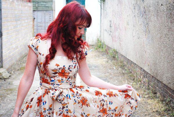 autumn floral dress