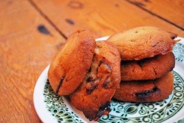 mint choc chip cookies