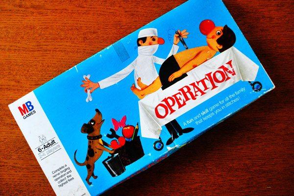 vintage 70s operation game