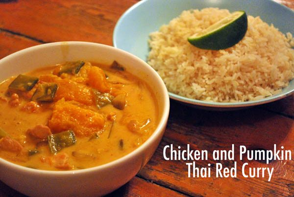 chicken and pumpkin thai red curry