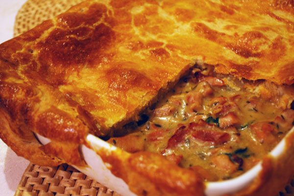 Chicken, Bacon and Spinach Pie