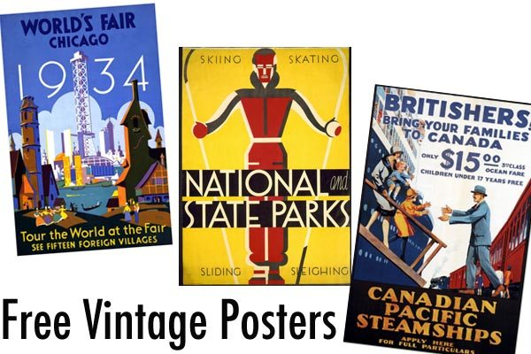 photo about Free Printable Vintage Posters called No cost Printable Typical Posters Elizabeth Dhokia