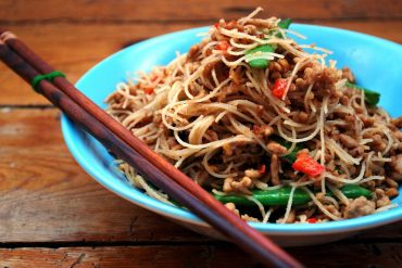 Pork and Peanut Spicy Thai Noodles