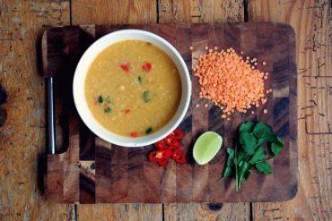 Spicy Lentil and Coconut Soup