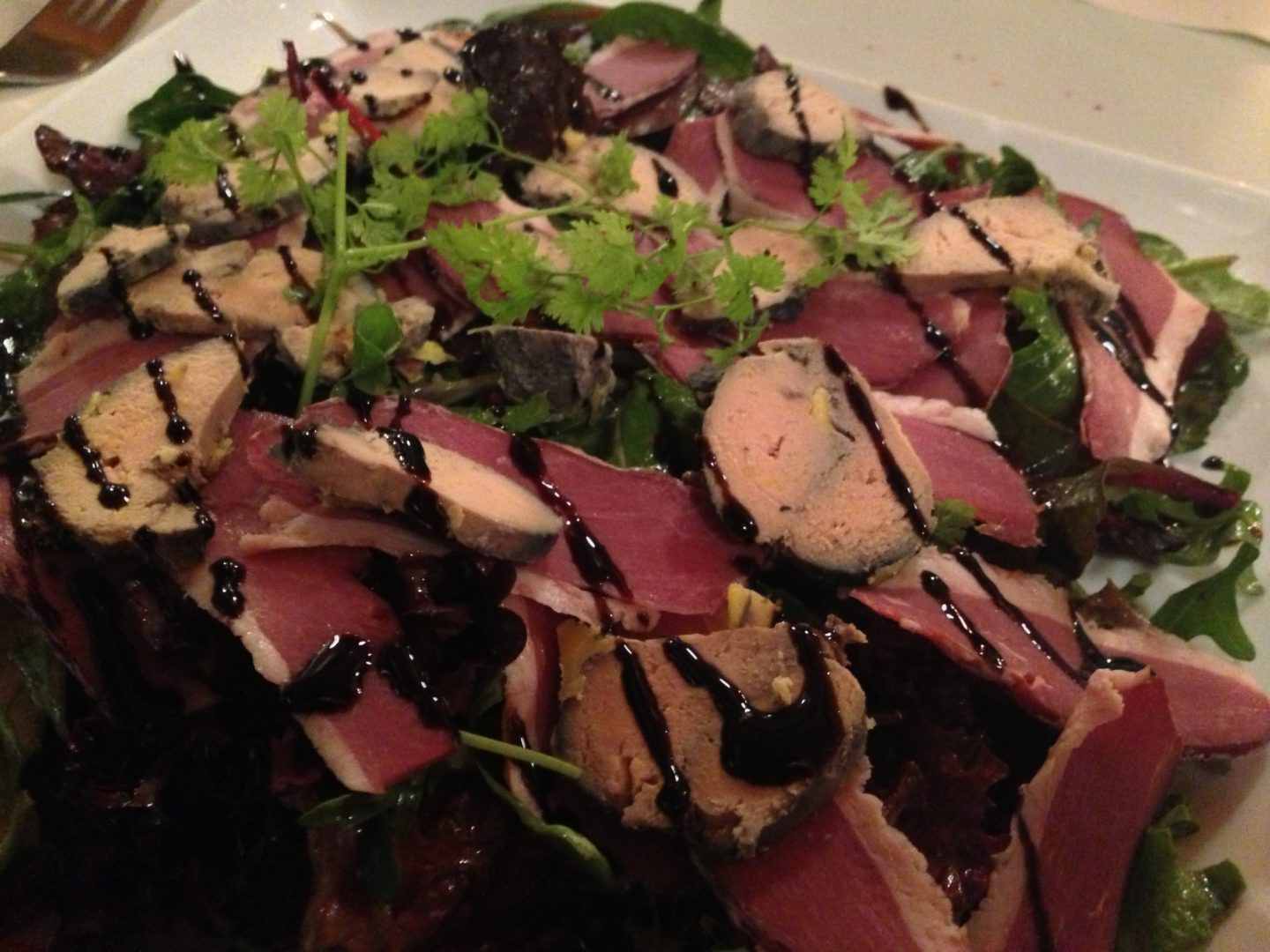 Smoked Duck and Foie Gras Salad