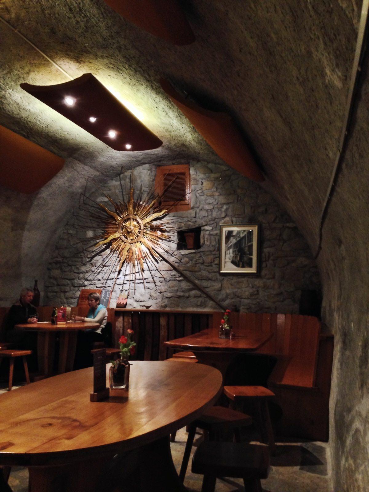 Inside the wine bar