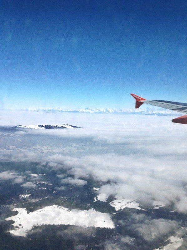 Flying into Switzerland