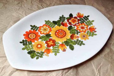 Vintage Melamine Tray Plate