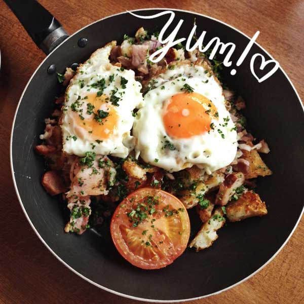 Breakfast Hash at Jujus