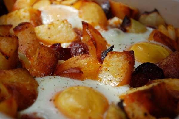 Roast Potato and Chorizo Hash