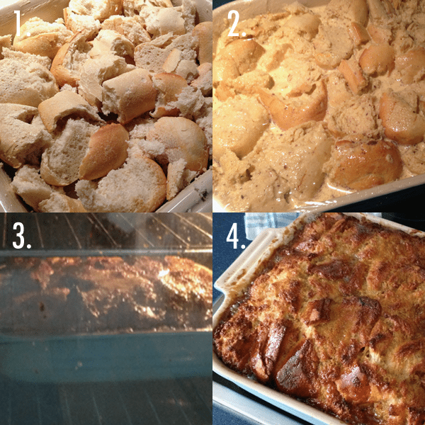 4 Stages to Baked French Toast