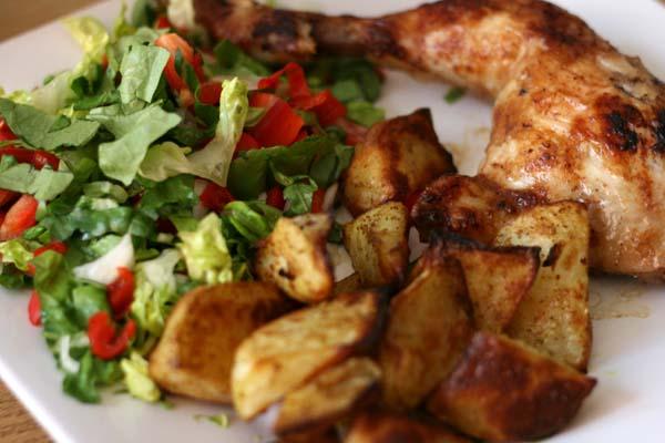 Chicken Potato and Salad