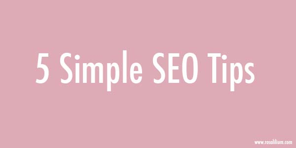 Simple SEO Tips