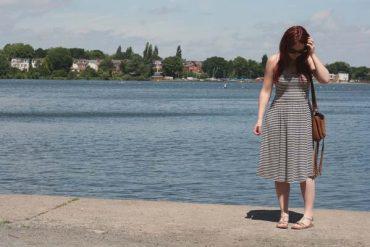 Stripy Joules Dress