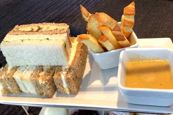 Sandwiches at Hotel La Tour