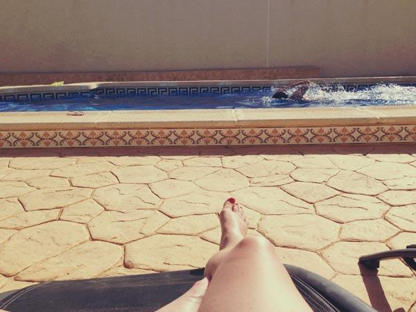 Sunbathing and Swimming
