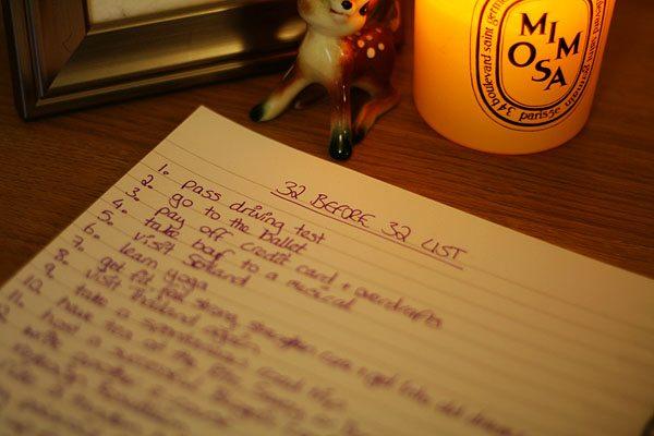 32 Before 32 List