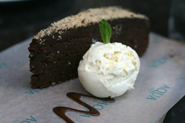 Italian Choc Cake and Ice Cream