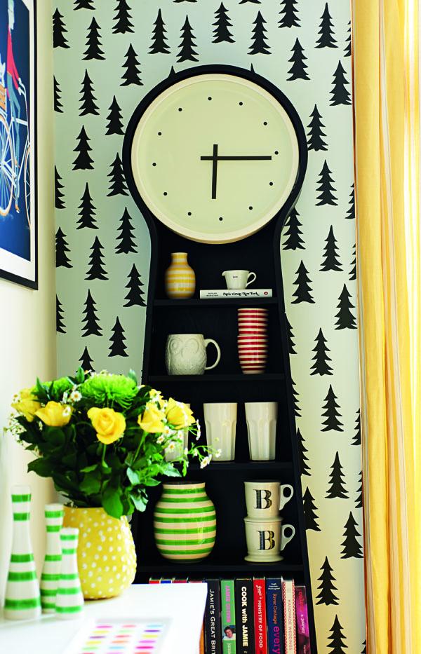 Clock and Wallpaper Bright Bazaar