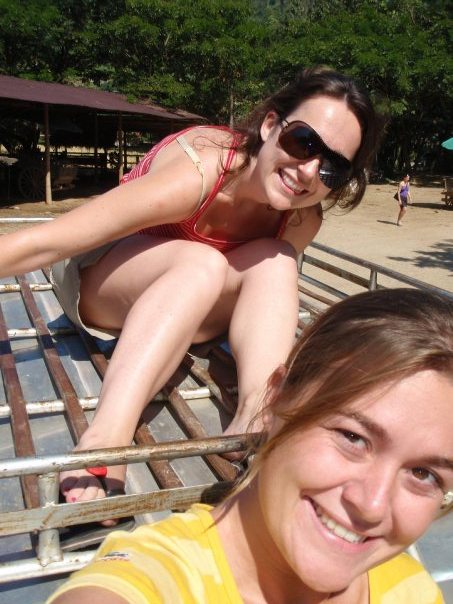 Riding on top of a truck in Thailand | Rosalilium