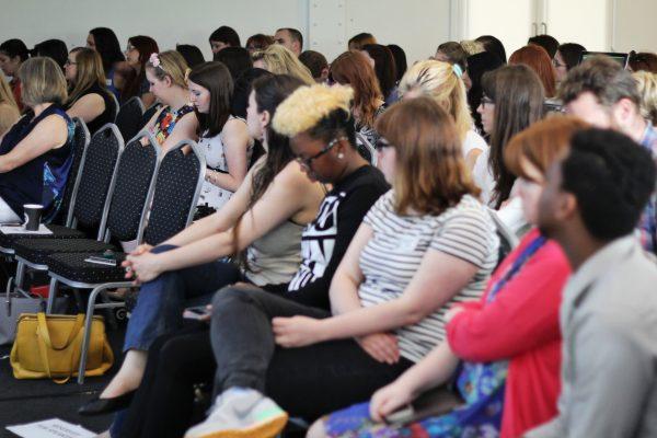 Delegates listening at Blognix