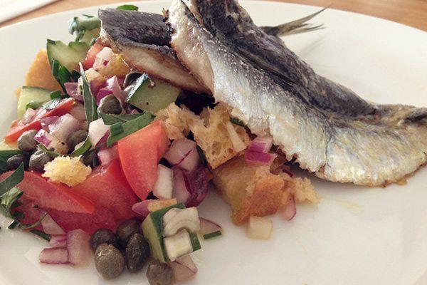 Grilled Sardines Salad