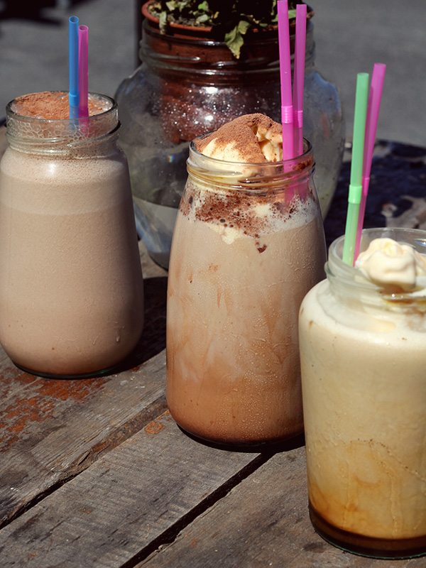 Iced Coffees at Jam Jar Newquay