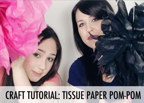 Tutorial: Tissue Paper Pom Pom