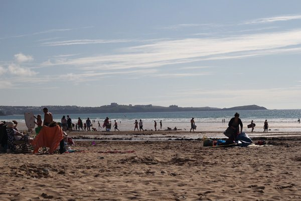 The beach at Newquay