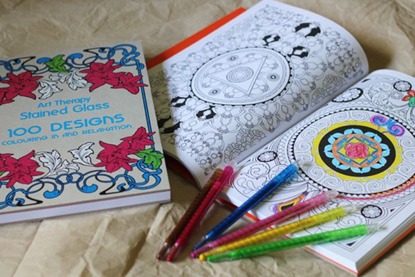 Art Therapy Colouring Book For Adults