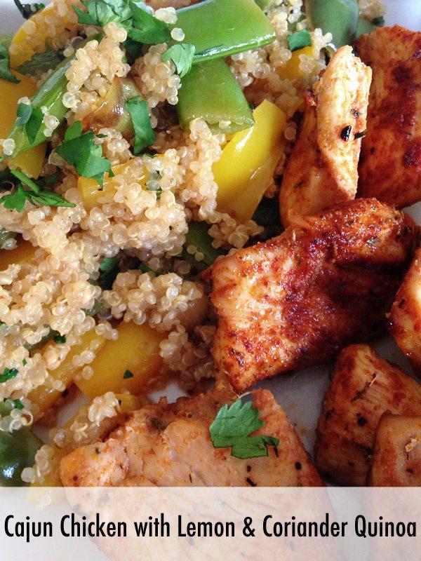 Cajun Chicken with Lemon and Coriander Quinoa