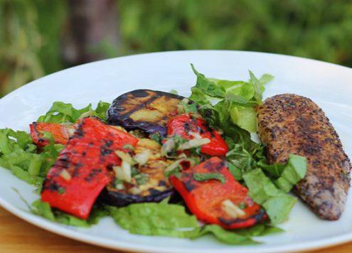 Mackeral and Aubergine Salad