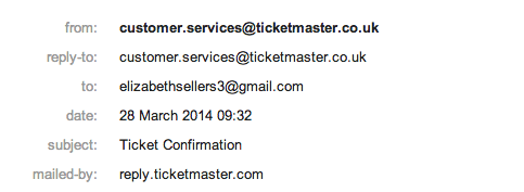 kate bush ticket confirmation
