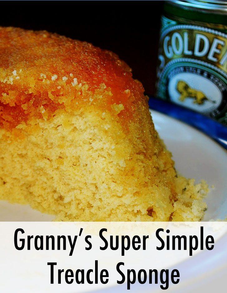 Grannys Super Simple Treacle Sponge Recipe